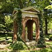 Davidson College Old Well Art Print