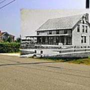 Davis House At Sakonnet Point In Little Compton Ri Art Print