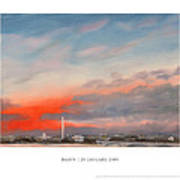 Dawn 20 January 2009 Art Print
