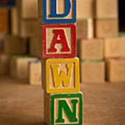 Dawn - Alphabet Blocks Art Print