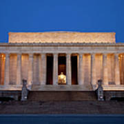 Dawn At Lincoln Memorial Art Print