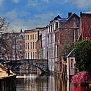 Dawn In Bruges Art Print