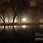 Dawn Mist Rising At Sycamore Pool  Art Print