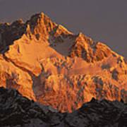 Dawn On Kangchenjunga Talung Art Print