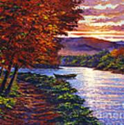 Dawn On The River Art Print by David Lloyd Glover
