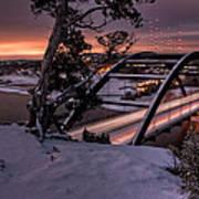 Dawn Over Snowy Austin Art Print