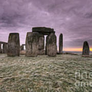 Dawn Over The Stones  Art Print