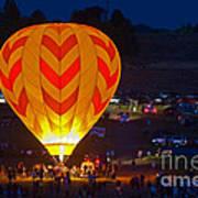 Dawn Patrol- Reno Balloon Race Art Print