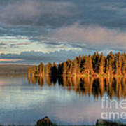 Dawn Reflections On Pelican Bay Art Print