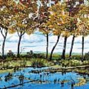 Dawn's Blue Waters Edge  Art Print