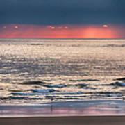 Dawns Red Sky Reflected Art Print