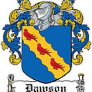 Dawson Coat Of Arms Irish Art Print