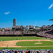 Day Game At Wrigley Field Art Print