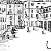 Day In Piazza Di Campitelli Art Print