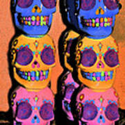 Day Of The Dead Ink Art Print
