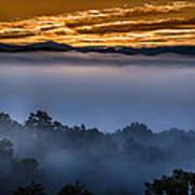 Daybreak Coming To The Smoky Mountains E150 Art Print