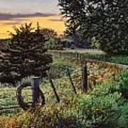 Daybreak Southwest Corner Fenceline Art Print