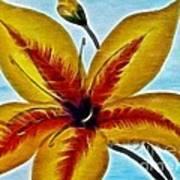 Daylily Expressive  Brushstrokes Art Print