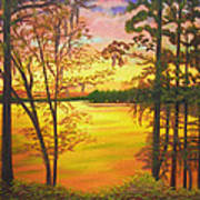 Day's End On Lake Talquin Art Print