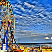 Daytona Ferris Wheel Art Print