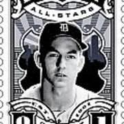 Dcla Al Kaline Detroit All-stars Finest Stamp Art Print by David Cook Los Angeles