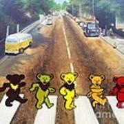 Dead On Abbey Road Art Print by Jen Santa