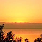 Dead Sea Sunset Art Print