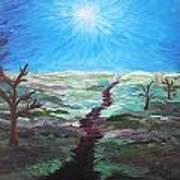 Dead Trees On The Moor Art Print