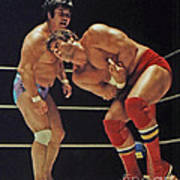 Dean Ho Vs Don Muraco In Old School Wrestling From The Cow Palace Art Print