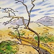 Death Valley- California Sketchbook Project Art Print
