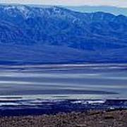 Death Valley National Park Overview Of Badwater Basin Art Print