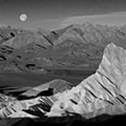 Death Valley Zabriskie Point Bw Img 0525psd Art Print