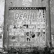 Death Warning Art Print