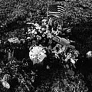 Debbie C's Grave American Flag Evergreen Cemetery Tucson Arizona 1991 Art Print