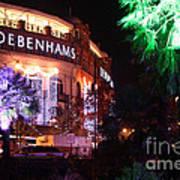 Debenhams Bournemouth At Christmas Art Print