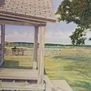 Decayed Farm House Art Print