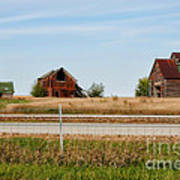 Decaying Farm Central Il Art Print