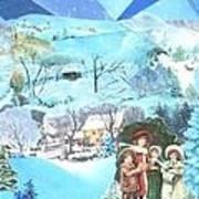 December Evening Landscape - Sold Art Print