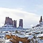 December In Monument Valley Art Print