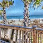 Deck On The Beach Art Print