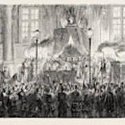 Declaring The Result Of The Plebiscite In Paris Art Print