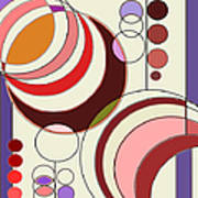 Deco Circles Art Print