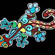 Deco Gecko Art Print
