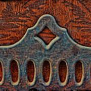 Deco Metal Red Art Print