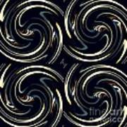 Deco Swirls Art Print