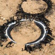 Decomposing Tires Art Print