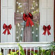 Decorated Christmas Window Key West Art Print