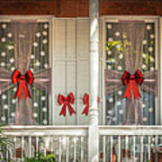 Decorated Christmas Windows Key West - Hdr Style Art Print