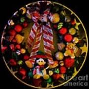 Decorated Wreath Art Print
