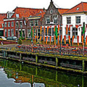 Decorations For Orange Day To Celebrate The Queen's Birthday In Enkhuizen-netherlands Art Print